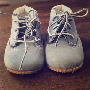 Slightly used Baby Blue Timberlands